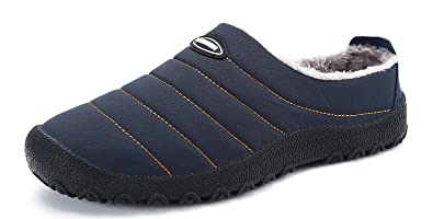Invierno Zapatillas de Casa para Hombre Mujer, SMajong Espesar Zapatillas Aire Libre Impermeables, Cálidas