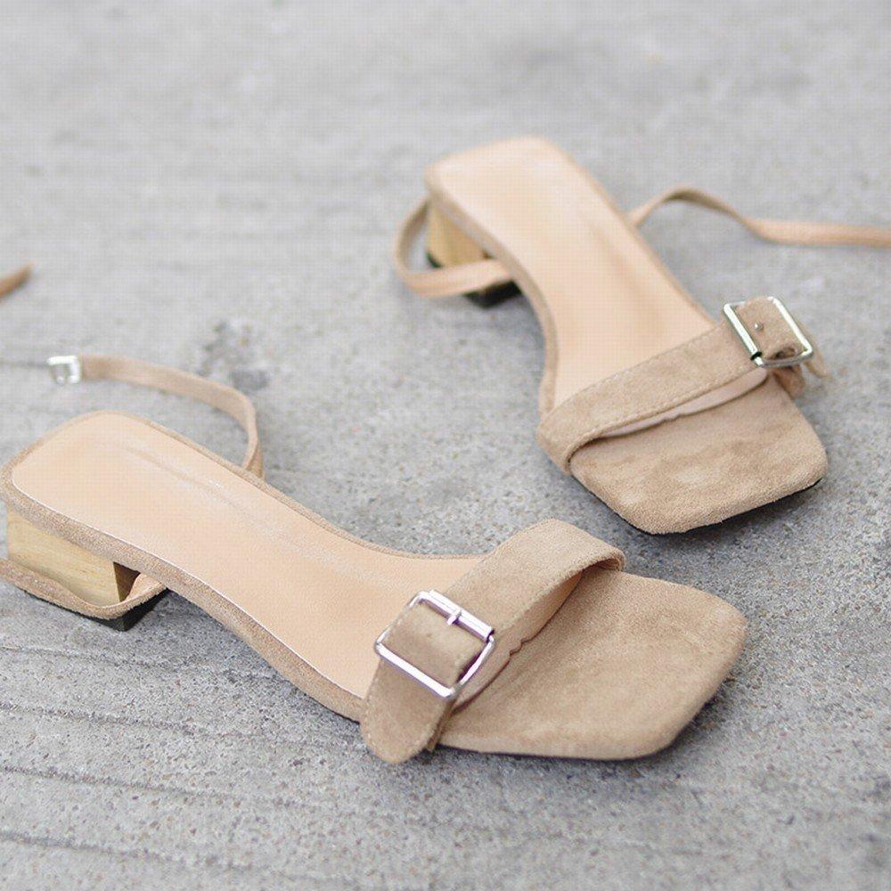 DIDIDD Mitte und Dick mit Rom Einfache Wilde Fee Schuhe - mit Sandalen,Aprikose,36 - Schuhe c37c68