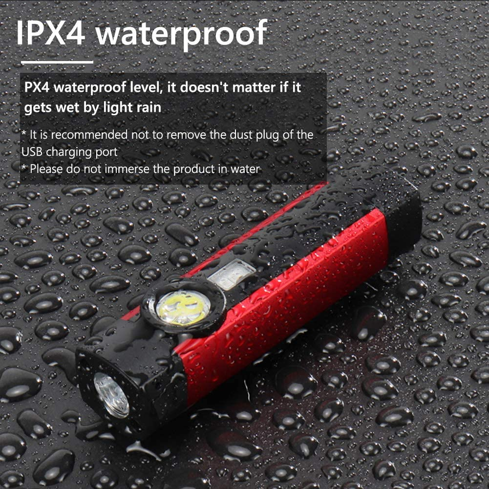 for Household Workshop Automobile Camping Emergency Rechargeable Work Light Eletorot LED Work Lights Flashlight 3 in 1 COB Inspection Lamp with Blacklight Torch Lamp Magnetic Base and Hanging Hook