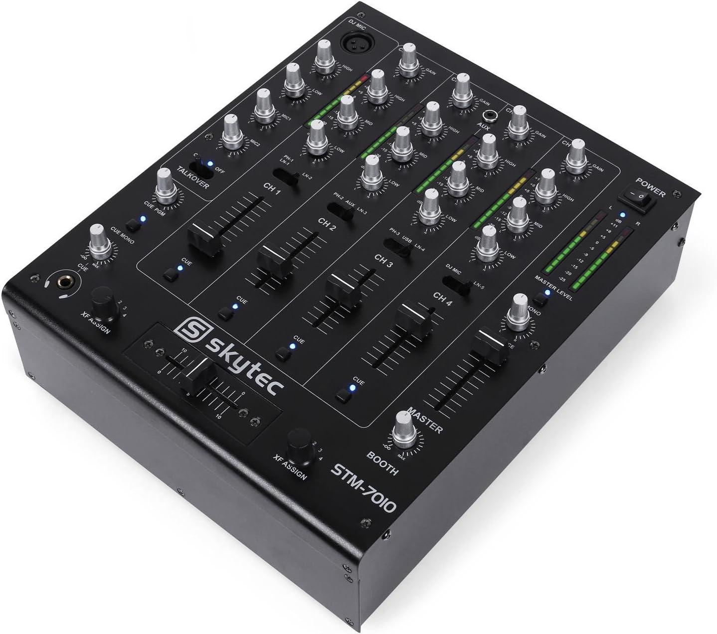 STM-7010 Mezclador 4 canales DJ USB: Amazon.es: Instrumentos musicales