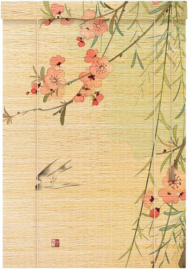 XZPENG Persiana Cortina Lateral tabique de Madera de Puertas y Ventanas Vertical Ciegos Persianas de bambú Persianas (Size : 90x120cm)
