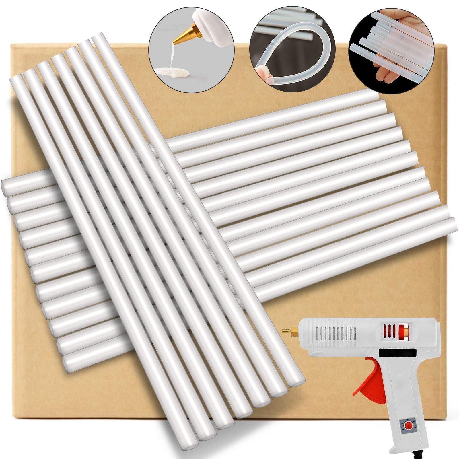 Mophorn Hot Melt Glue Sticks 25 lbs Bulk Glue Gun Sticks Clear Adhesive Glue Sticks for Glue Gun