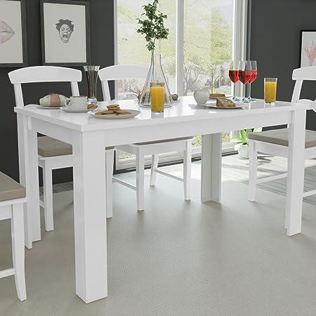 Immagini Tavoli Da Cucina.Festnight Tavolo Da Pranzo Tavoli Da Cucina 140x80x75 Cm Bianco