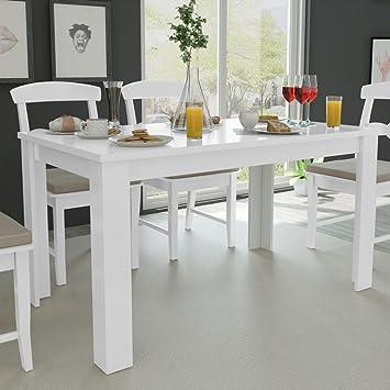 Festnight Tavolo da Pranzo/Tavoli da Cucina 140x80x75 cm Bianco ...