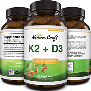 Vitamin D3 with K2 MK7 Supplement - Vitamin D3 5000 IU Capsules and Vitamin K2 for Immune Support Bone Health Heart Health Joint Support Bone Strength and Mood Boost - VIT D3 K2 Immune System Support
