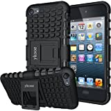 ykooe iPod Touch 7 Case, Touch 6 Case, Touch 5 Case, Heavy Duty Protective Cover Dual Layer Hybrid Shockproof Protective Case