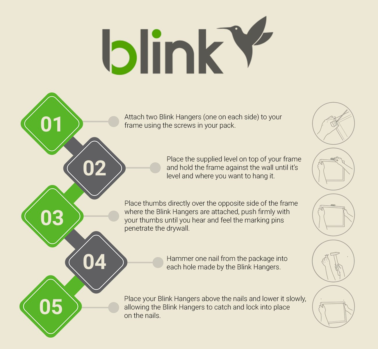 Blink Picture Hangers For Home & Office (24 Pack) - - Amazon.com