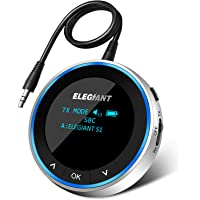 ELEGIANT Visible Bluetooth 5.1 Transmitter Receiver for TV PC, Wireless Audio Adapter APTX LL Low Latency w OLED Screen…