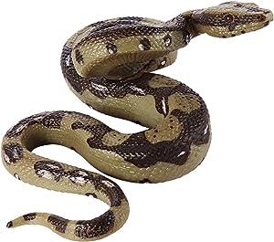 STOBOK Rubber Fake Snake 5.7Inch, Realistic Snake Toy Scary Prank Animal Figure Rubber Python Model Garden Props for Halloween