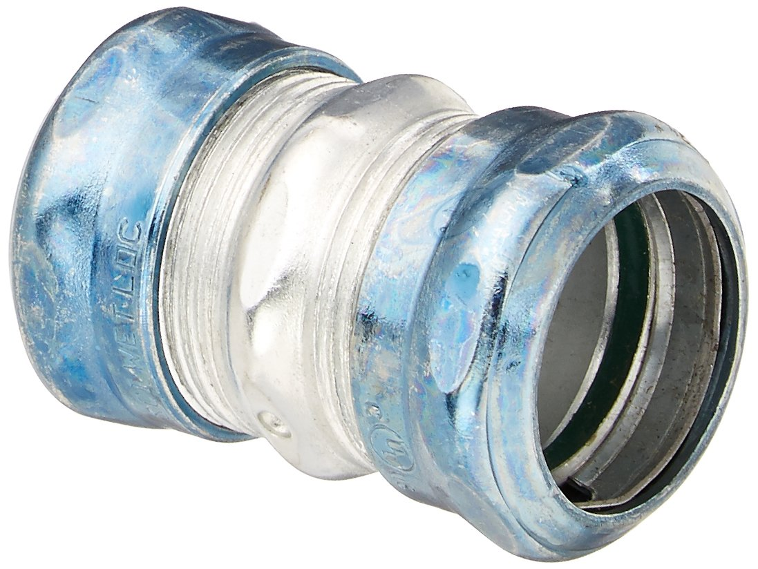 Hubbell Raco 2924RT 4 Coupling Raintight Compression 1 Inch Trade Size EMT Steel Uninsulated