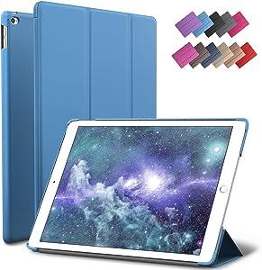 ROARTZ iPad Mini 4 case, Blue Slim Fit Smart Rubber Coated Folio Case Hard Cover Light-Weight Auto Wake/Sleep for Apple iPad Mini 4th Generation Model A1538/A1550 Retina Display
