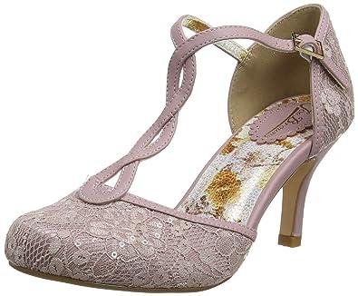 559b6b0446f8 Joe Browns Women s La Vie En Rose Shoes T-Bar Heels  Amazon.co.uk ...