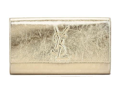 faa77c202614 Yves Saint Laurent Ysl Belle De Jour Large Gold Metallic Clutch Bag 361120   Amazon.ca  Shoes   Handbags