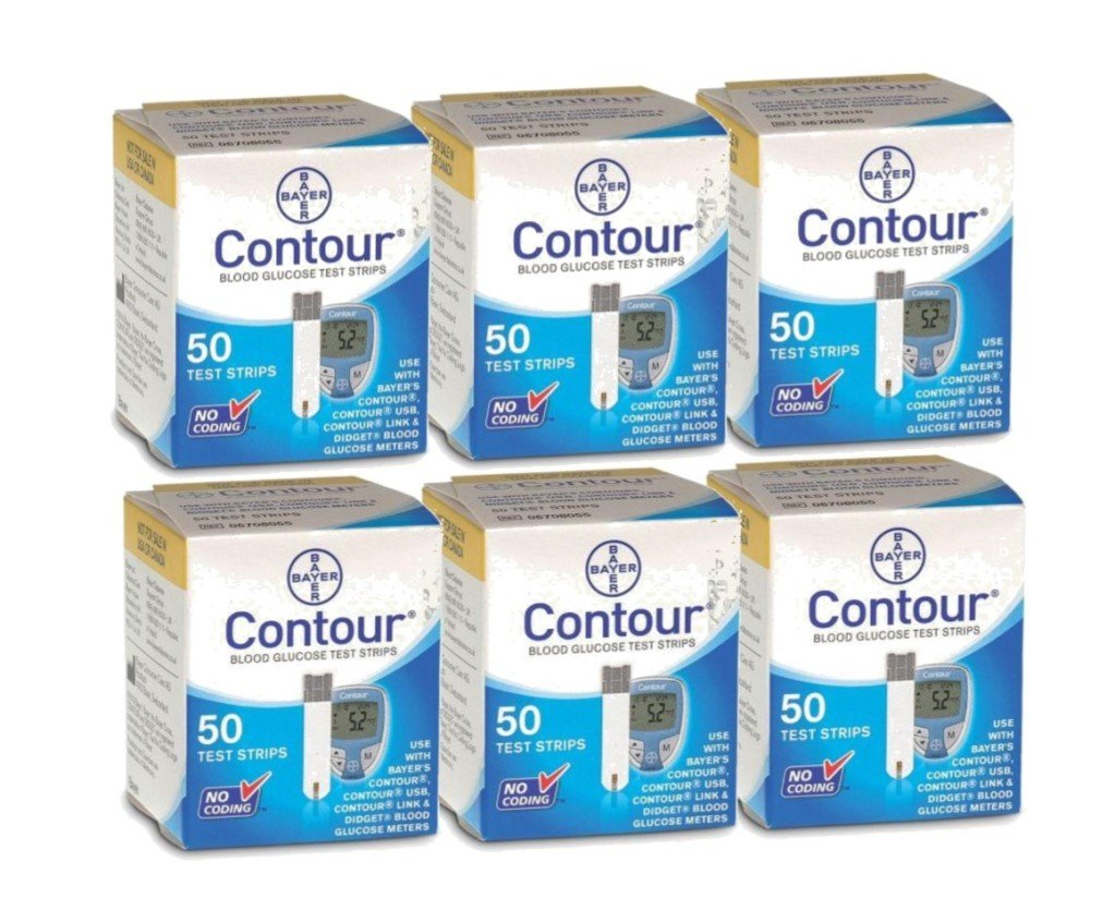 Bayer's 300 Count CONTOUR Blood Glucose Test Strips