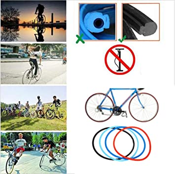 Black Drainage Bicycle Cycling Tubless Riding Solid Tires Solid Tire Explosion-proof For 700 23C Road Bike Fixed Gear 4 Colors