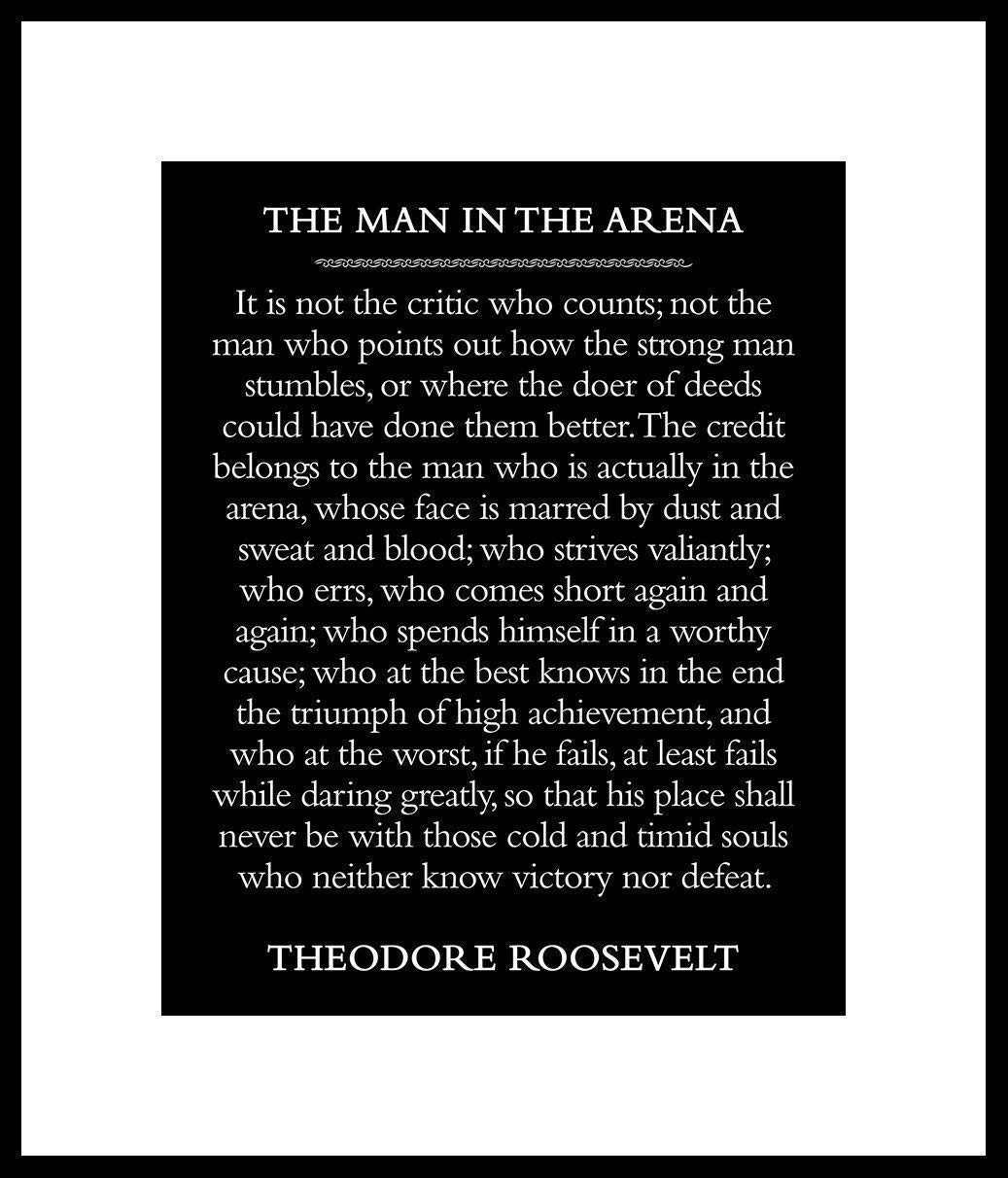 picture about The Man in the Arena Printable named \