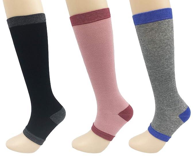 Amazon.com: Calcetines de compresión para mujer, con pierna ...