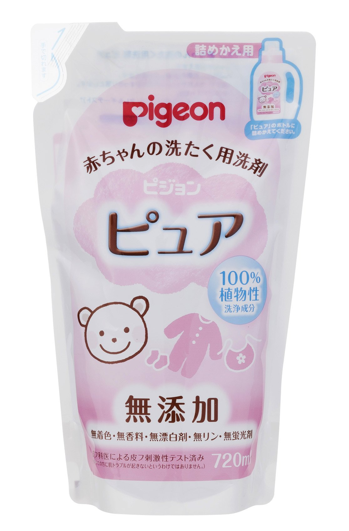 Japan Health and Personal - 720ml for changing laundry detergent Pure stuffed Pigeon baby *AF27*