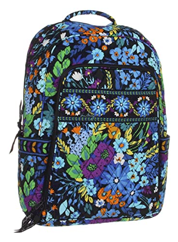 Amazon.com  Vera Bradley Laptop Backpack in Midnight Blues  Shoes 6e72dcdb1d616