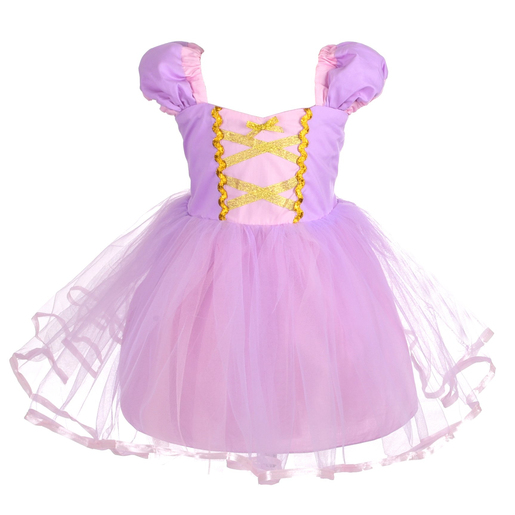 Dressy Daisy Girls Princess Rapunzel Dress Costumes for Toddler Girls Halloween Fancy Party Dress Size 4T by Dressy Daisy (Image #1)