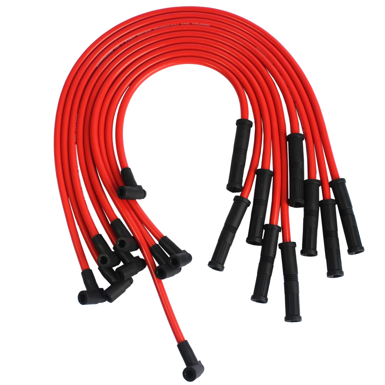 JDMSD New HEI Spark Plug Wires Set 90 To Straight For Chevy SBC BBC on