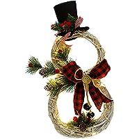 bysonice Kerst Decoratie Kerst Krans Hanger Led Licht Krans Hanger Kerst Supplies