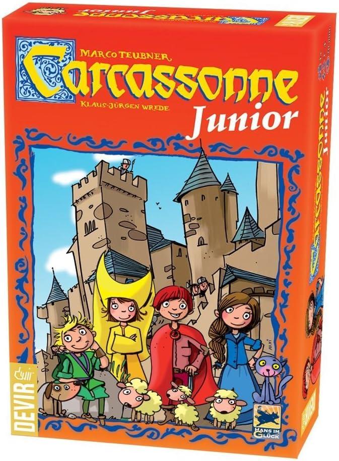 Devir- Carcassonne Junior Juego de Mesa, Multicolor, 27,5 x 6,5 x ...