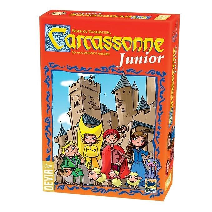 Devir- Carcassonne Junior, Juego de Mesa, 27,5 x 6,5 x 19 cm (1BGJCARCAS)