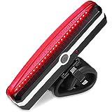 在庫一掃セール 自転車ledテールライト usb充電 6モード 防水 強力 軽量 セーフティーライト リアライト