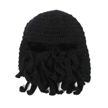 Amazon.com   Natuworld Fashion Tentacle Octopus Cthulhu Shape Knit Beanie Hat  Winter Windproof Ski Warm Mask Hat Cap   Sports   Outdoors 3d05117b270