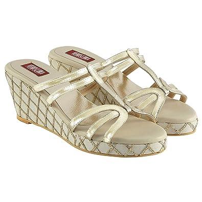 0dbdd54e0a6 Veruschka Women s Pavlova Cream Fashion Sandals - 5 UK India (38 EU ...