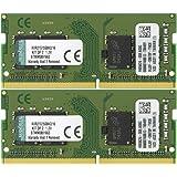 キングストン Kingston ノートPC用メモリ DDR4 2133 (PC4-17000) 8GB×2枚 CL15 1.2V Non-ECC SODIMM 260pin KVR21S15S8K2/16 永久保証