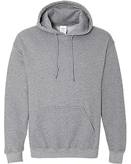 Gildan White Hoodie Heavy Blend Blank Plain Hooded Sweat Sweater Men/'s XS XXL