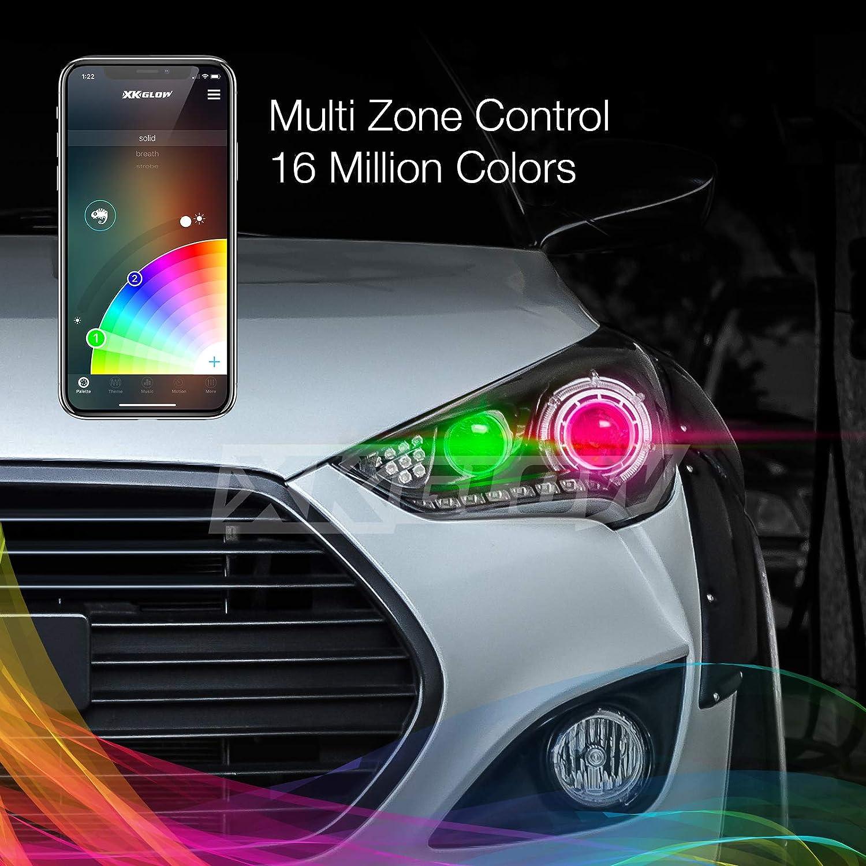 LED Headlight Conversion XKchrome Smartphone App-Enabled Bluetooth RGB Devil Eye 2nd Gen 2in1 LED Headlight Bulb Kit H7