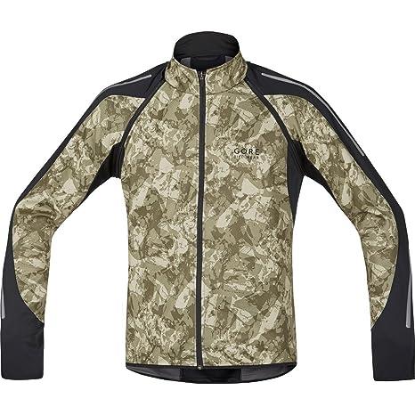 Gore Bike Wear Phantom Print 2.0 Windstopper Soft Shell - Chaqueta para Hombre, Color Camouflage