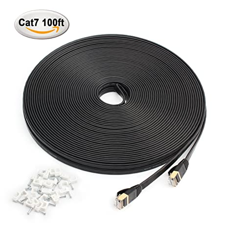 MEALINK Cat 7 Ethernet Cable 100 ft-Fastest Shield (FTP) Lan Cable with