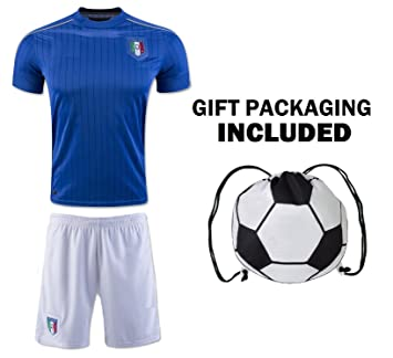 various colors 96429 dc5ca Fan Kitbag Italy Pirlo #21 / Verratti #10 / Buffon #1 Soccer Jersey &  Shorts Kids Youth Sizes ✓ Soccer Backpack INCLUDED