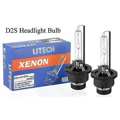 Litech D2S HID Xenon Headlight Replacement Bulb 6000k 35w 85122 Super Bright(Pair): Automotive