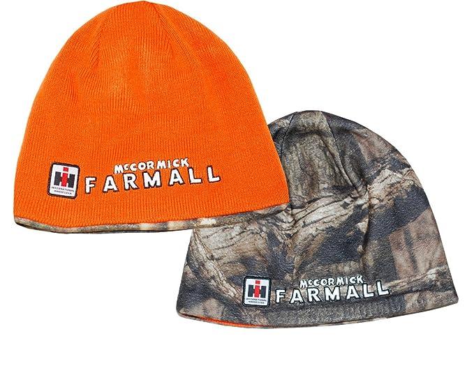 43c93a7c0 Men's Farmall Reversible Camo Fleece & Blaze Orange Beanie