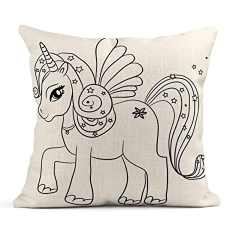 Kinhevao Almohada de Tiro Color Cute Cartoon Fairytale ...