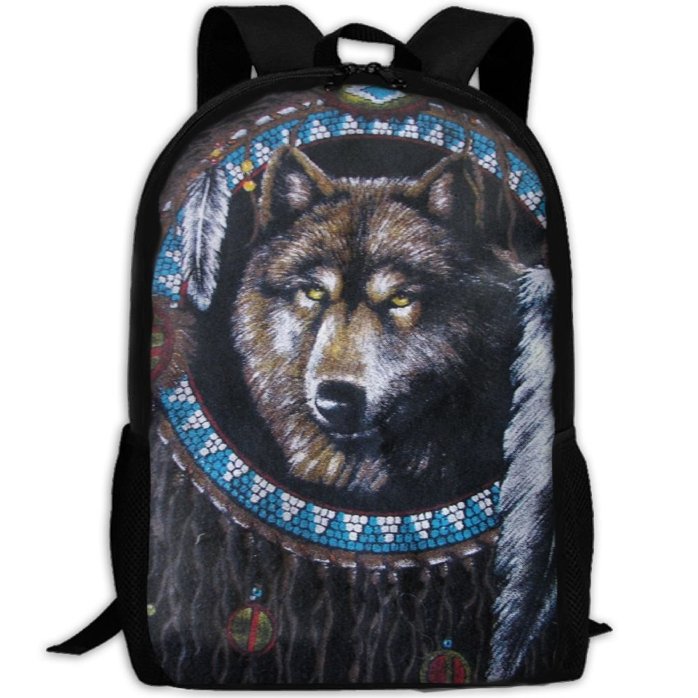Mystery Of Wolf Unique Outdoor Shoulders Bag Fabric Backpack Multipurpose Daypacks For Adult good