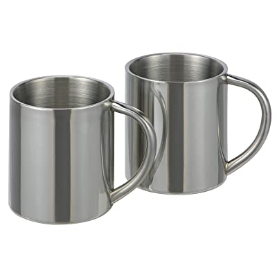2 pièces en acier inoxydable Gobelet isotherme Thermos Gobelets tasses