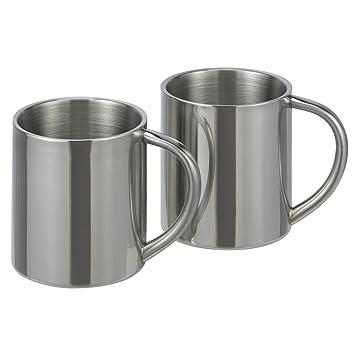 Unbekannt 2 pieza Acero inoxidable – Vaso térmico, Thermos Taza Termo Taza de café tazas
