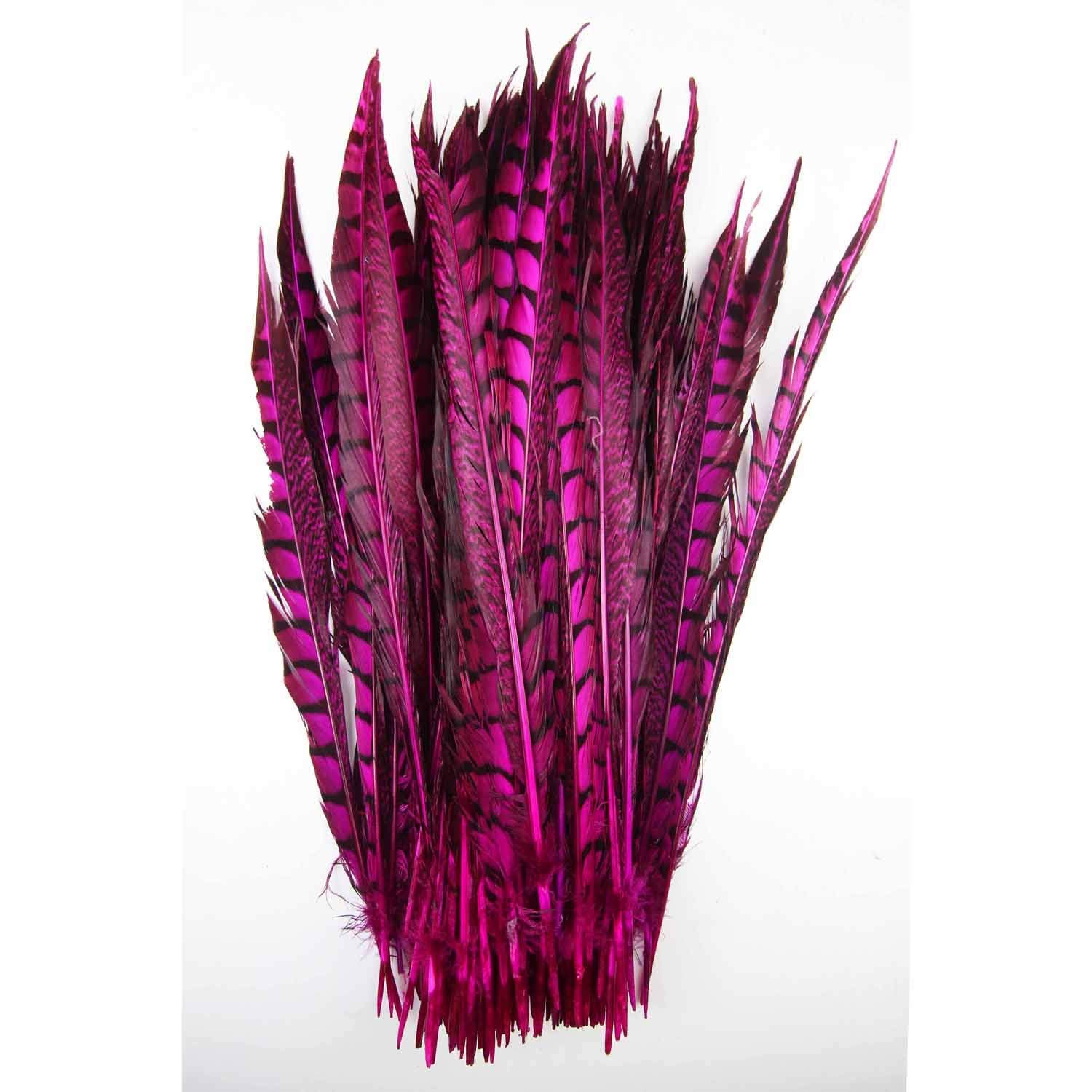 100pcs 6-8inch-15-20cm Dyed Tail Rose 100% Natural Copper Pheasant Feather