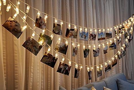 Butterme 10 foto led clip luci della stringa per interni esterni