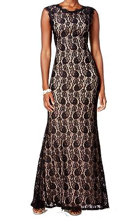 Betsy Adam Womens Lace Sleeveless Semi Formal Dress At Amazon