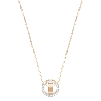 3503ea383a80d Amazon.com: Swarovski Crystal Small White Rose Gold-Plated Hollow ...