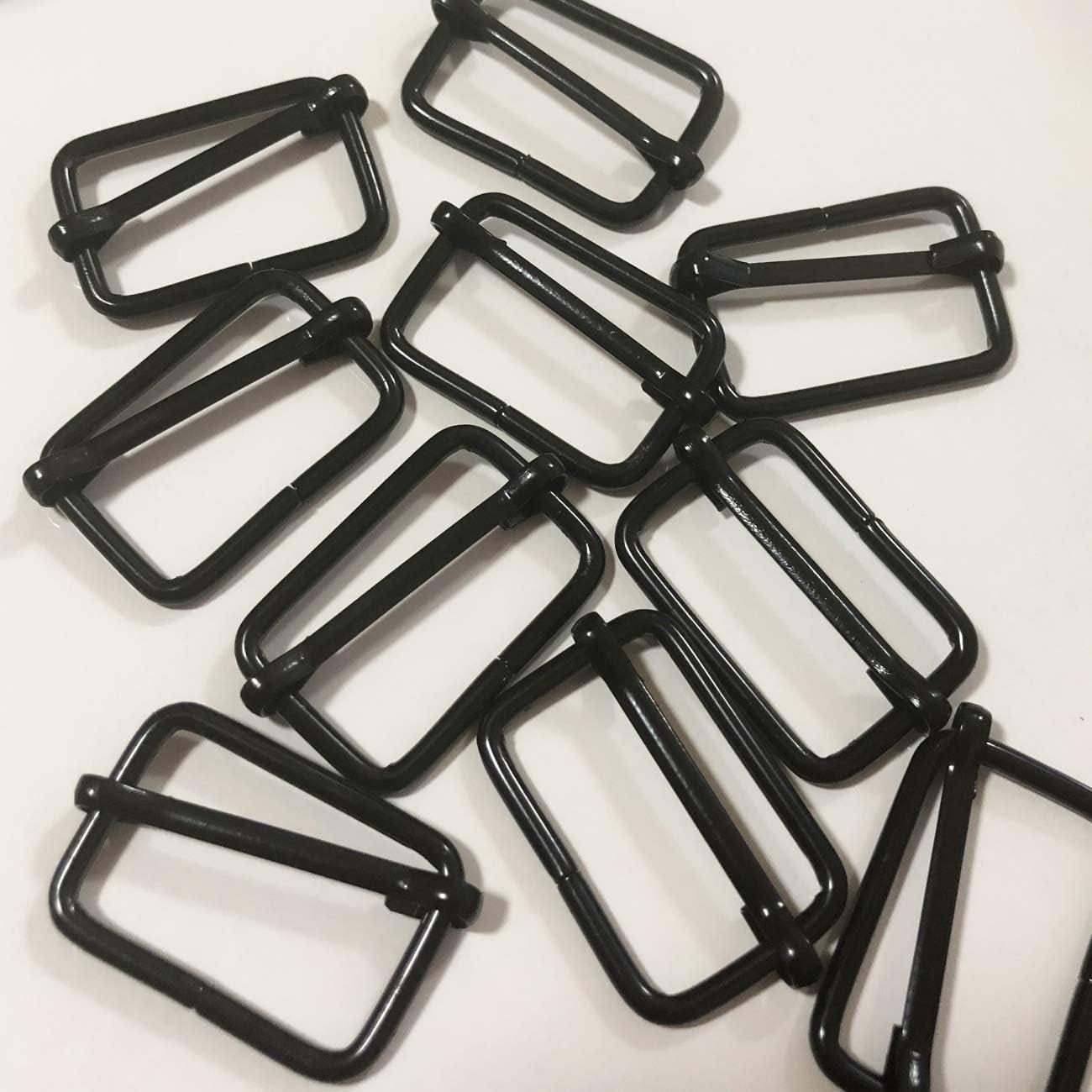 Backpack DIY Accessories Strap Acronde 50PCS 1 Metal Slide Buckle Triglides Slides Rectangle Adjustable Webbing Slider for Fasteners