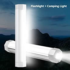 UYLED 2-in-1 Camping Lights with LED Flashlight Rechargeable Battery Operated, Handheld Magnet USB Charge Small White Lantern Emergency Light for Outdoor