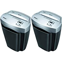 Fellowes Powershred W11C, 11-Sheet Cross-Cut Paper and Credit Card Shredder with Safety Lock, 2 Pack